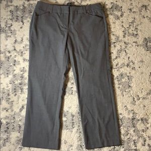 NY&Co Grey Wide Leg Ankle Capri Work Pants